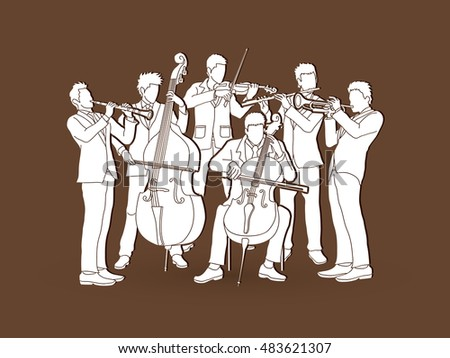 Orchestra player graphic vector