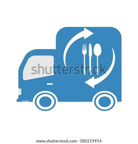Order food around the clock - stock vector