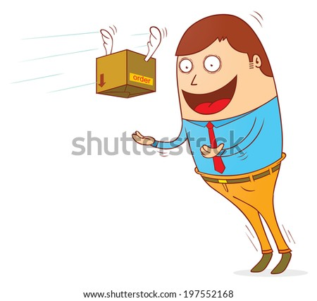 order is coming - stock vector