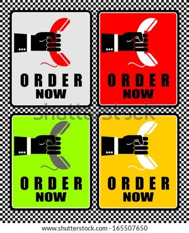 Order Now - stock vector