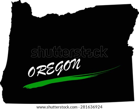 Oregon map vector in black and white background, Oregon map outlines in a new design - stock vector