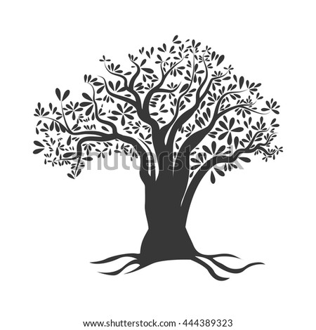 Organic and Healthy food concept represented by olive tree icon. isolated and flat illustration