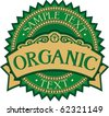 organic badge - label (stamp) - stock vector