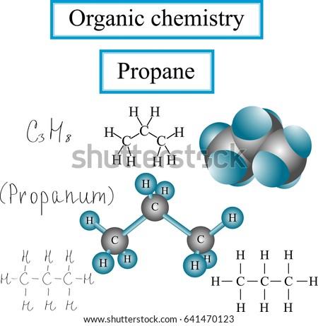 Organic Chemistry Set Structural Formulas Propane Stock Photo Photo