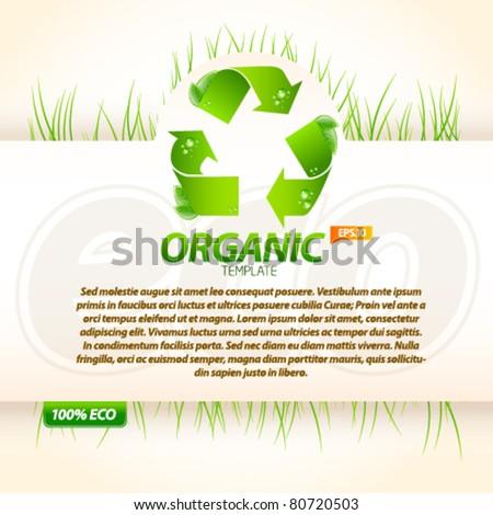 Organic eco template 3 - stock vector