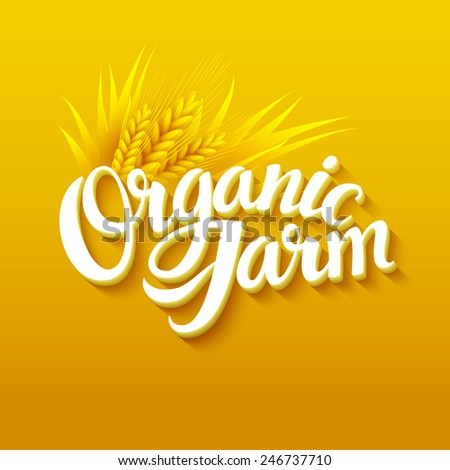 Organic Farm Logo - stock vector