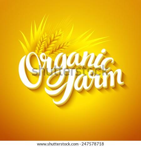 Organic Farm Logo - stock vector