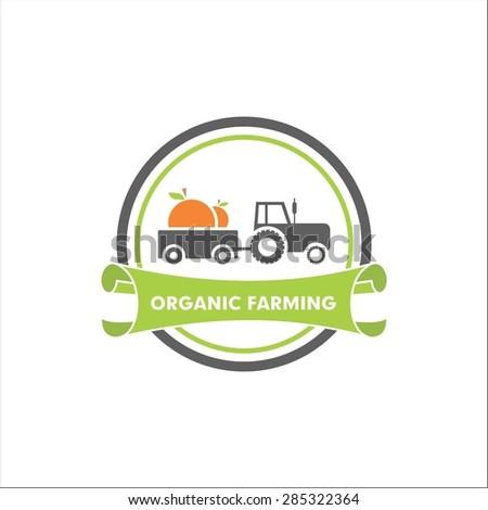 Organic farming - stock vector