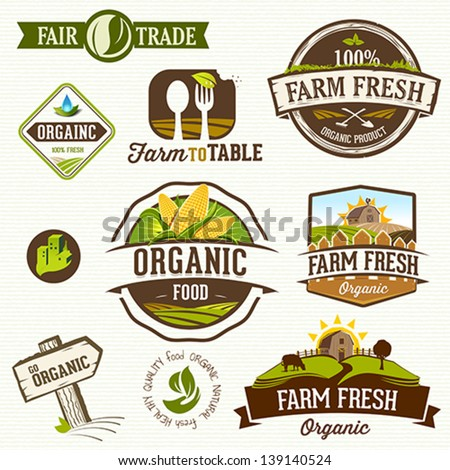 Organic Food - stock vector