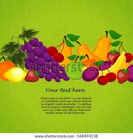 organic food  market vector illustration - stock vector
