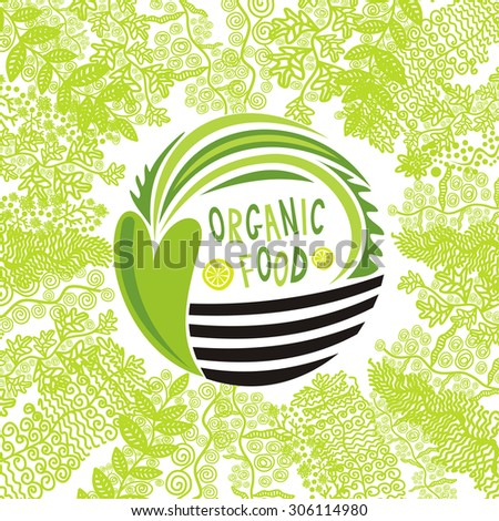 Organic food vector illustration