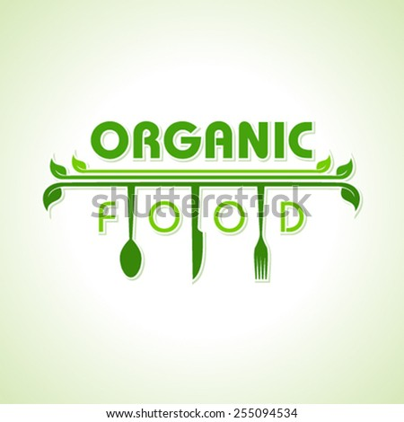 Organic food with kitchen utensils concept