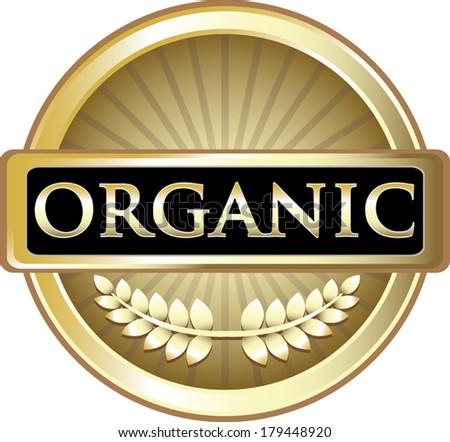 Organic Gold Label - stock vector