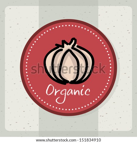 organic label over gray background vector illustration