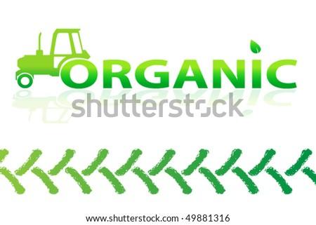 organic logo design - stock vector