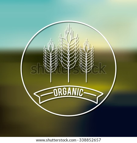 organic product design, vector illustration eps10 graphic