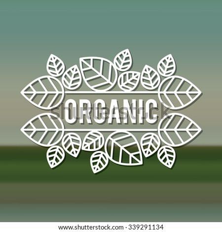 organic product design, vector illustration eps10 graphic  - stock vector