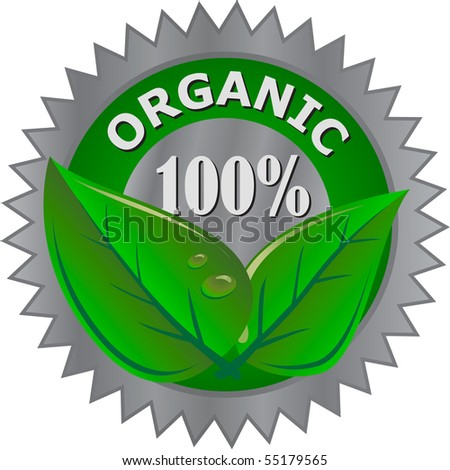 organic product label - stock vector
