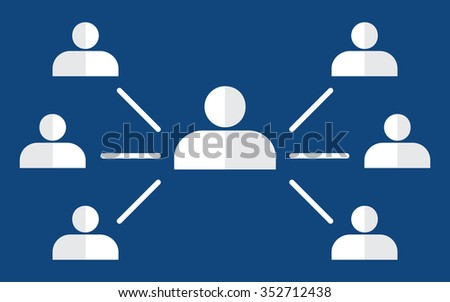 Organisational chart corporate hierarchy - stock vector