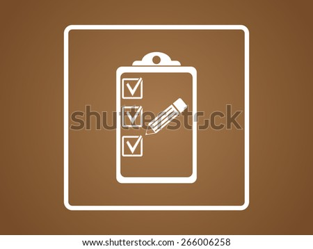 Organiser vector icon. Flat design style - stock vector