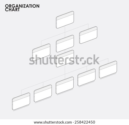 Organization chart infographics with tree, Organization chart template clear content. vector illustration. - stock vector