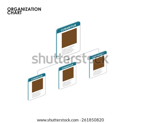 Organization chart infographics with tree. vector illustration - stock vector