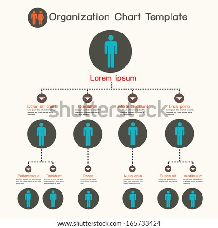 Organization chart template - stock vector