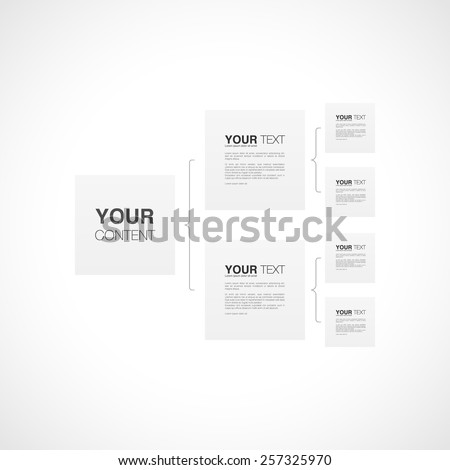 Organization chart template infographics design with your text, can be used for workflow layout, diagram, chart, number options, web design. Eps 10 stock vector illustration - stock vector