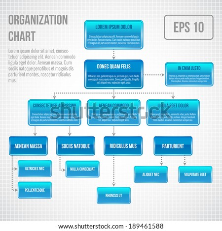 Organizational chart infographic business structure concept  flowchart vector illustration - stock vector