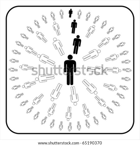 Organizational corporate hierarchy chart of a company of symbol people. , vector
