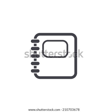 organizer icon , vector illustration - stock vector