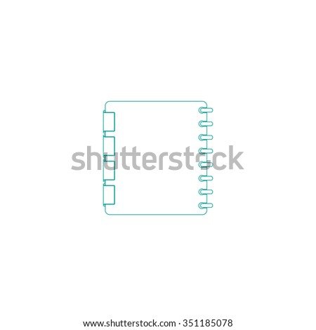 Organizer Outline vector icon on white. Line symbol pictogram  - stock vector