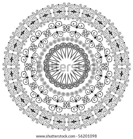 oriental arabesque pattern - stock vector