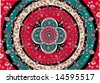 oriental carpet vector - stock vector