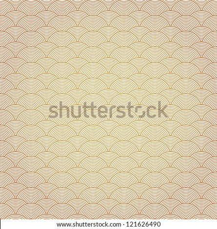 Oriental curve wave pattern background - stock vector
