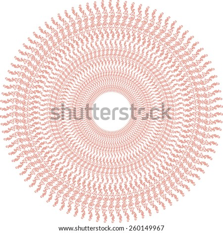 Oriental oval vector pattern