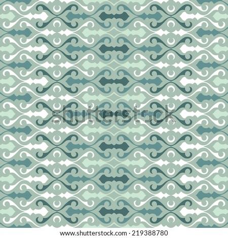 Oriental seamless pattern - stock vector