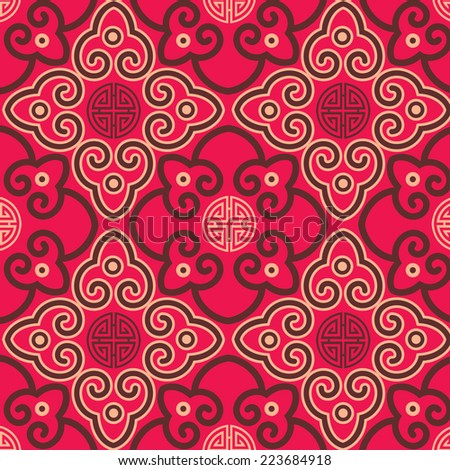 Oriental traditional background pattern design - stock vector