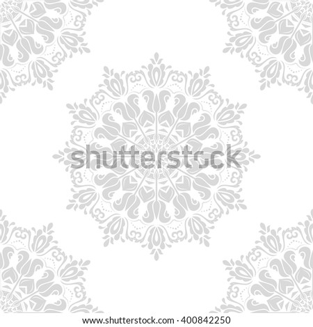 Oriental vector classic light ornament. Seamless abstract background with repeating elements - stock vector