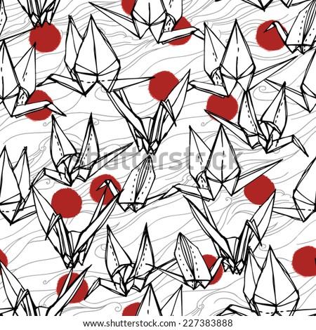 Origami - stock vector