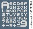 Origami alphabet ( A - Z ) , eps10 vector format - stock