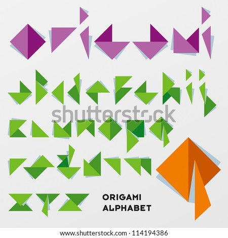 origami letters