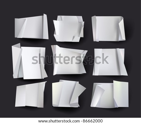origami backgrounds - stock vector