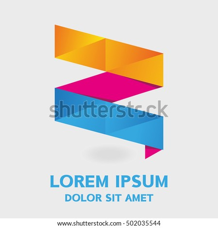Origami banner abstract geometric vector backgrounds