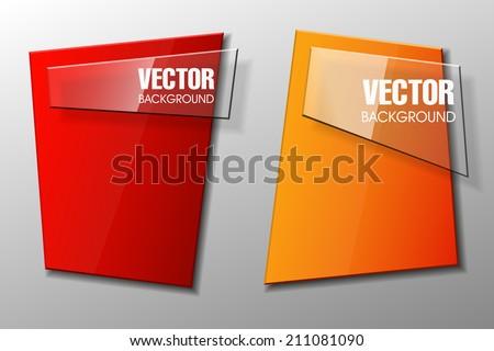 Origami banner, colorful banners set. Web banner. Banner vector. Web banner shape. Web banner template. Banner design. Art banner. Banner background. Paper banner. Abstract banner. Advertising banner - stock vector