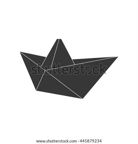 Origami concept represented by boat icon. isolated and flat illustration