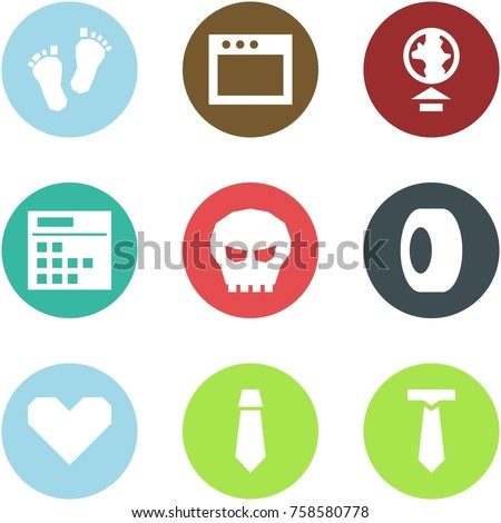 Origami corner style icon set - baby feet, window, upload, plan, skull, tyre, heart, tie,