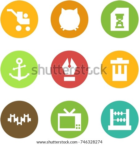 Origami Corner Style Icon Set Tandem Stock Vector 736576771 ...