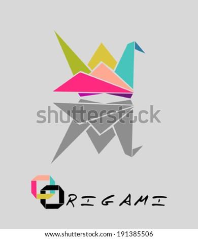 Origami Crane Design Element