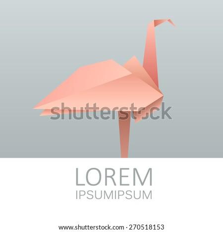 Origami Flamingo Vector Stock Vector 270518153 Shutterstock